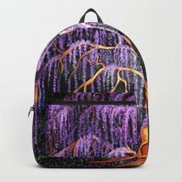 Electric Wisteria Willow Tree Backpack