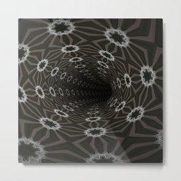 Dark Abyss Tubular Mandalas 10 Metal Print