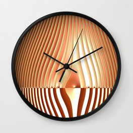 Bending the Bars of Rules - Pure Fractal Abstract Wall Clock