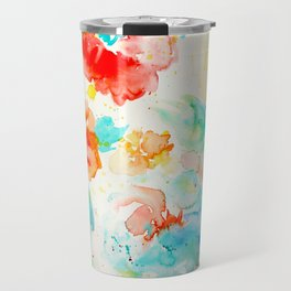 Abstract Flowers 02 Travel Mug