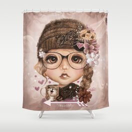 JAVA JOANNA  Shower Curtain
