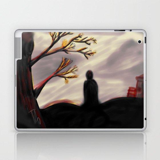 Dark Forest Scene Laptop & iPad Skin