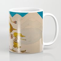 journey Mugs featuring Journey by Liz Hermanson
