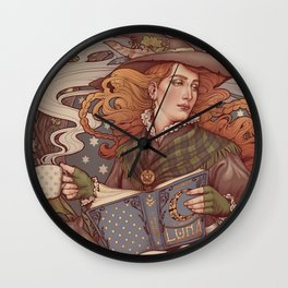 NOUVEAU FOLK WITCH Wall Clock