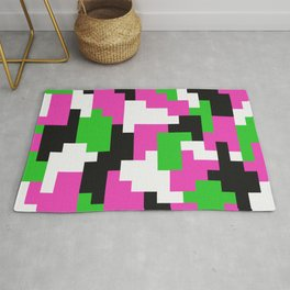 Girl Boss neon color blocks Rug