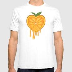 Love Orange Mens Fitted Tee White MEDIUM