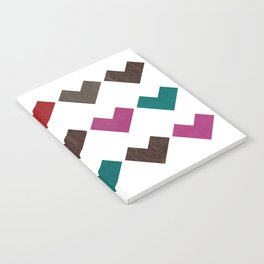 leather geometric love on white Notebook