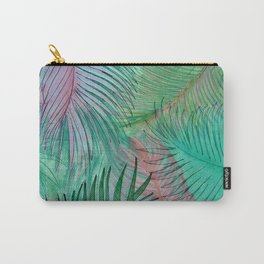 jungle leaves tropical palm tree leaf botanical design Carry-All Pouch