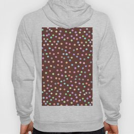 chocolate Glaze with sprinkles. Brown abstract background Hoody