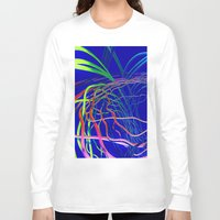 the wire Long Sleeve T-shirts featuring Live Wire by Brian Raggatt