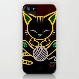 Sleepy Sunday Kitten iPhone Case