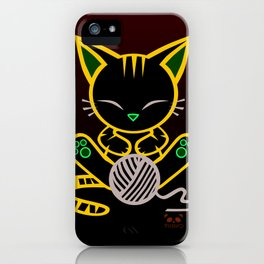 Sleepy Sunday Kitten iPhone Case