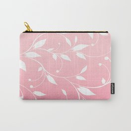 FLOWERY VINES   pink white Carry-All Pouch