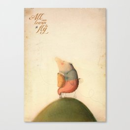 All can learn to fly Canvas Print