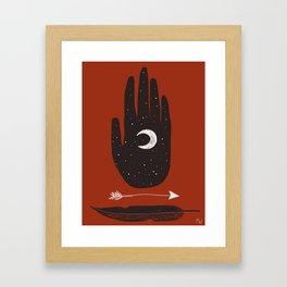Moon & Arrow Framed Art Print