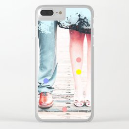 Mr & Mrs #society6 Clear iPhone Case