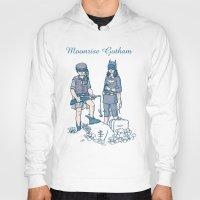 gotham Hoodies featuring Moonrise Gotham by Ramon Villalobos