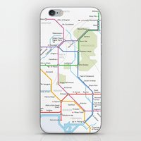 middle earth iPhone & iPod Skins featuring Middle Earth Transit Map by mehmetikberker