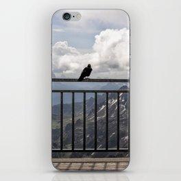 Birds on a Rail in Sass Pordoi iPhone Skin