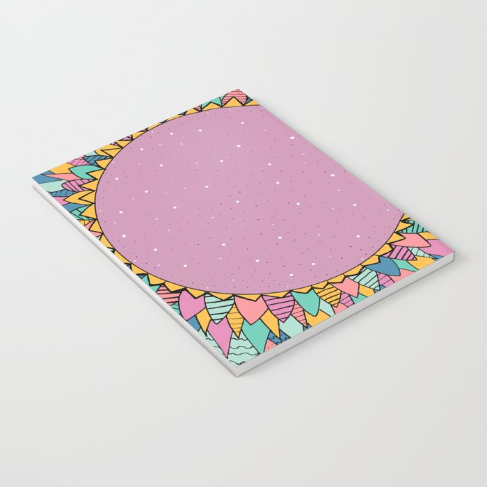 Abstract Flower Notebook