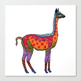 Psychedelic Vicuna Canvas Print