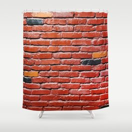 Background with painted brick wall Shower Curtain