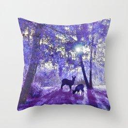 Deer In Another Light Throw Pillow