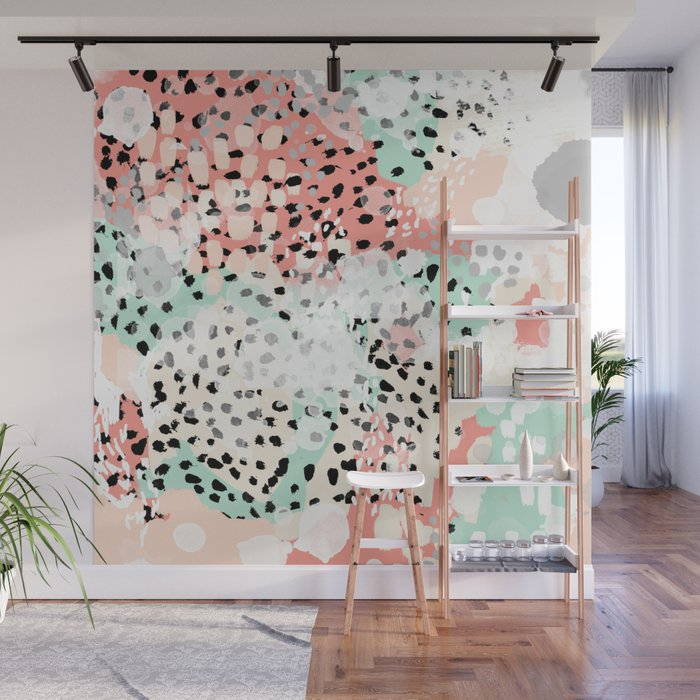 Phoebe Abstract Painting Minimal Gender Neutral Trendy Nursery Decor Home Office Art Wall Mural By Charlottewinter