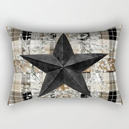 Rustic star on wood frame Rectangular Pillow