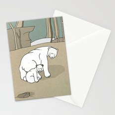 Polar Bear Mother and Son Stationery Cards