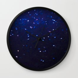 Painted Starry Night Wall Clock