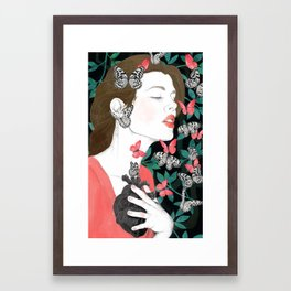 Butterflies // you make my heart flutter Framed Art Print
