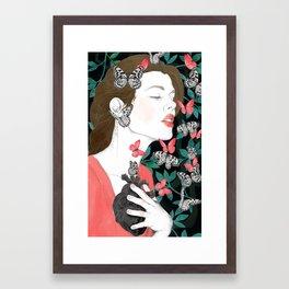 Butterflies // you make my heart flutter Framed Art Print