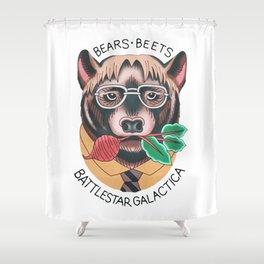 Bears beets Shower Curtain