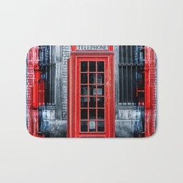 London - Telephone booth alone Bath Mat