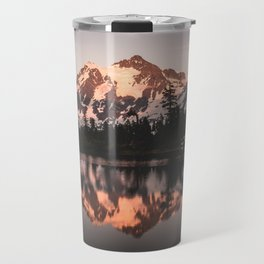 Alpenglow - Mountain Reflection - Nature Photography Travel Mug