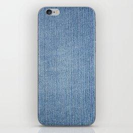 Faded Blue Denim iPhone Skin