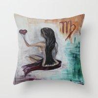 virgo Throw Pillows featuring Virgo by sladja
