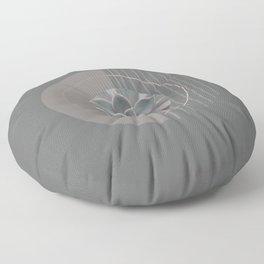 Nature Meets Geometry Circles Floor Pillow