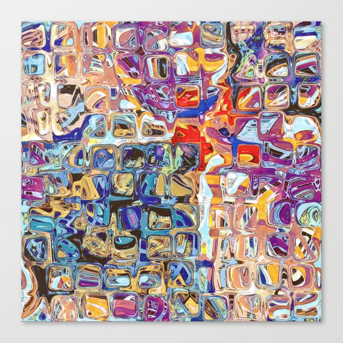 Abstract Glass Blocks Canvas Print