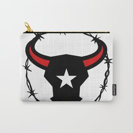 Texas Longhorn Barbed Wire Icon Carry-All Pouch