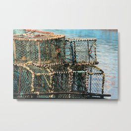 Lobster Crates South Africa Metal Print