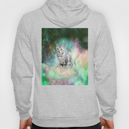 Purrsia Kitty Cat in the Emerald Nebula of Innocence Hoody
