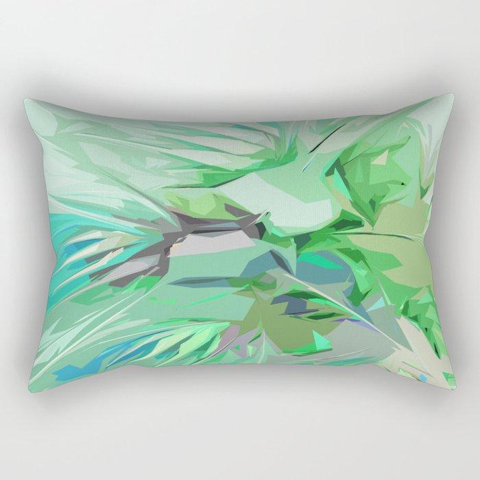 Palm Trees Abstract Rectangular Pillow