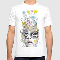 psykéwoman Mens Fitted Tee MEDIUM White