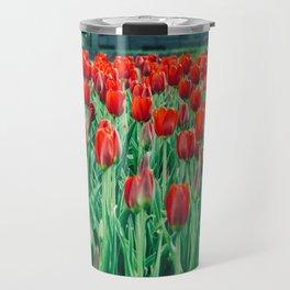 Tulips in Trondheim, Norway Travel Mug