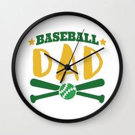 Baseball Dad Wall Clock