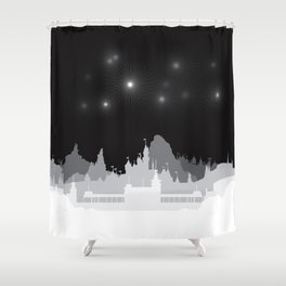 Fireworks at night. Shower Curtain
