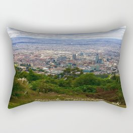 Mount Monserrate, with a 10,000 ft view of Bogota Colombia Rectangular Pillow