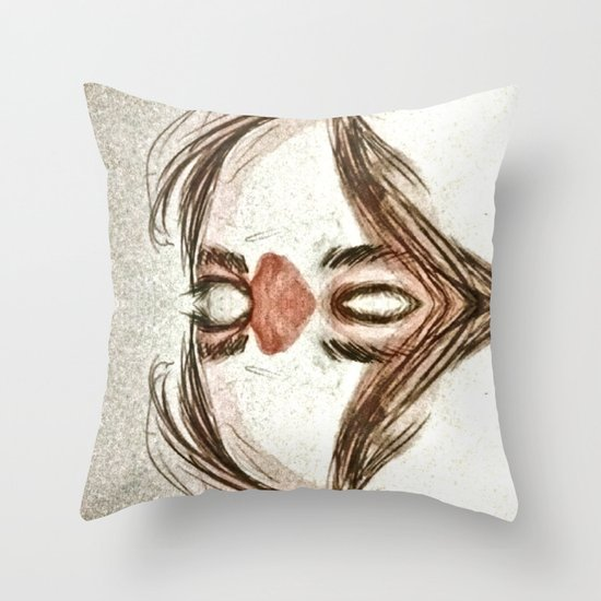 Mirror face Throw Pillow